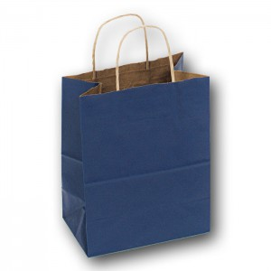 blue kraft bag
