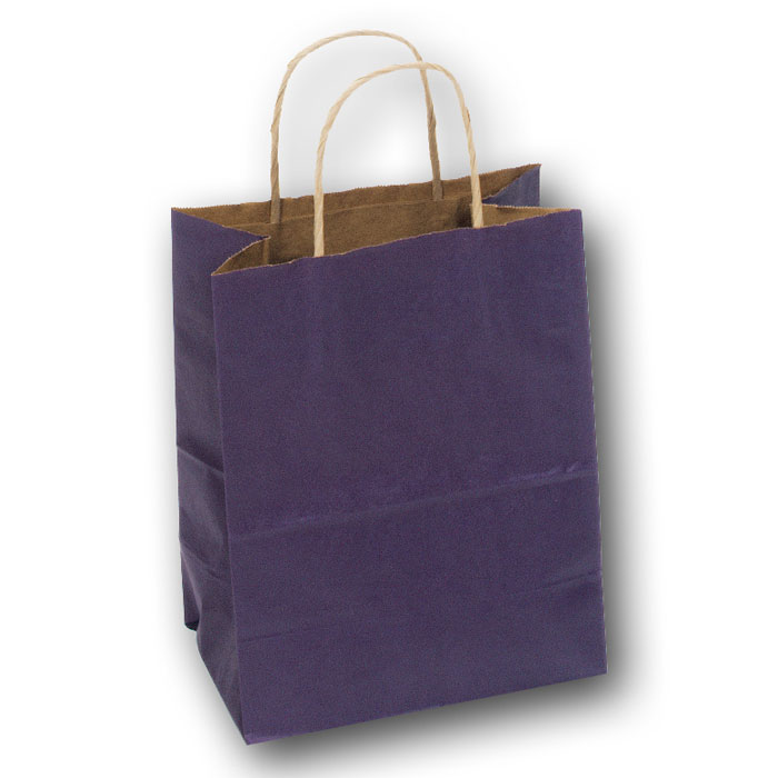 purple kraft bag