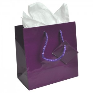 purple gift bag