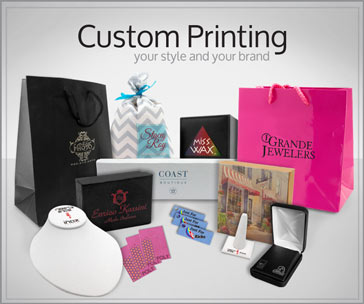 Gems on Display Custom Printing