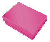 Hot Pink Cotton Filled Boxes