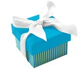 Aqua Striped Boxes