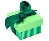 Green Stripe Ribbon Boxes