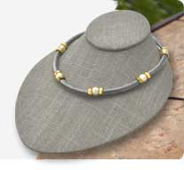 Grey Linen Jewelry Displays