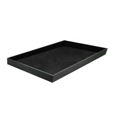 "Black Leatherette Wrapped Jewelry Tray-1""-Full Size"