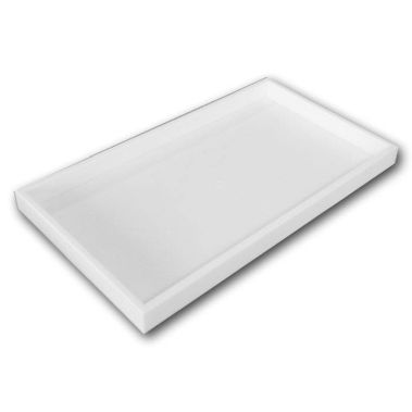 Stackable Jewelry Tray-White-Full Size-1-1/2""