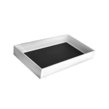 "Leatherette Wrapped Jewelry Tray-2""-White-Full Size"