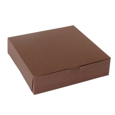 "Chocolate Cupcake Box 10"" x 10"" x 2-1/2"""