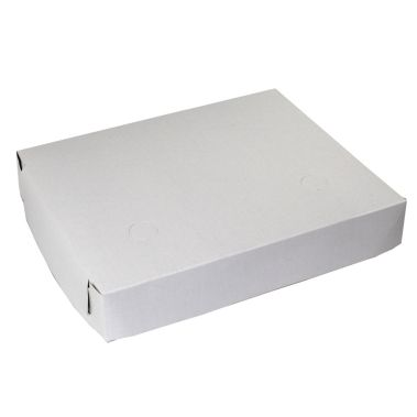 White Lock Corner Box 12 x 10 x 2 Two Piece