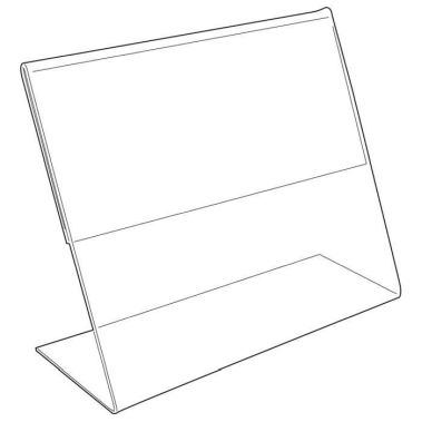 "Acrylic Sign Holder 5-1/2"" x 3-1/2"""