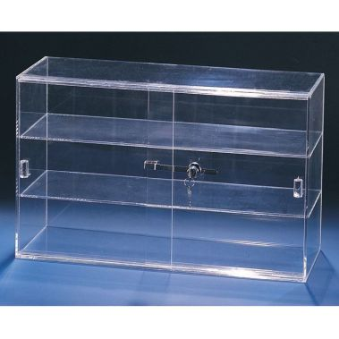 Counter top Acrylic Sliding Case 3 Shelves