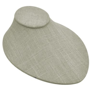 Grey Linen Low Profile Bust