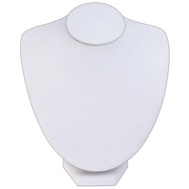 Necklace Bust White Leatherette