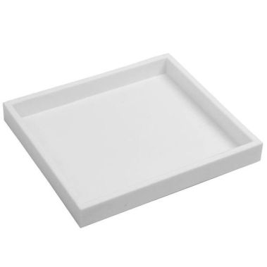 White Stackable Plastic Tray-Half Size-1""