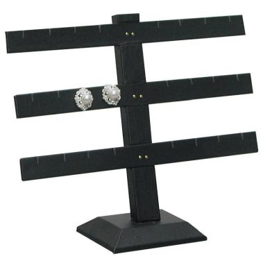 Earring Bar 3 Tier Black