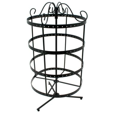 Circular Rotating Metal Earring Stand (96 Pair)