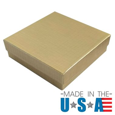 Gold Linen Cotton Filled Box #33