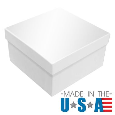 Premium White Krome Cotton Filled Box #34