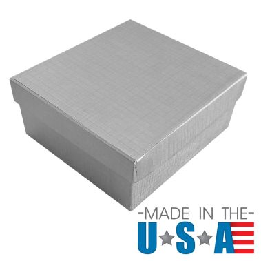 Silver Linen Cotton Filled Box #34