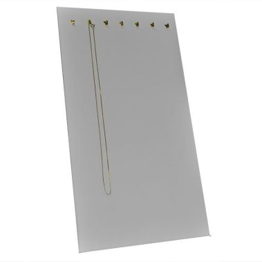 Chain Board With 7 Hooks White Leatherette