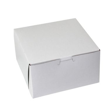 Semi-Gloss White Cupcake Box 7 x 7 x 4