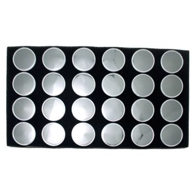 Acrylic Jar Gemstone Tray Liner (24 Jars)