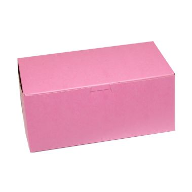 Windowed Strawberry Cupcake Box 9 x 5 x 4
