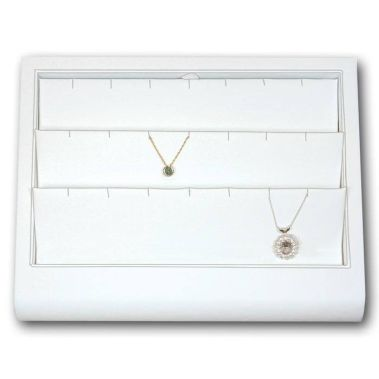 White Leatherette Pendant Tray