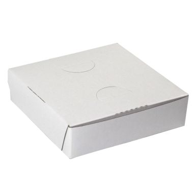 White Lock Corner Box 9 x 9 x 1-1/2