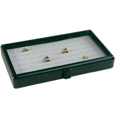 Aluminum Tray with Glass Lid Anodized Black