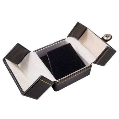 Double Door Earring/Pendant Box (Black)