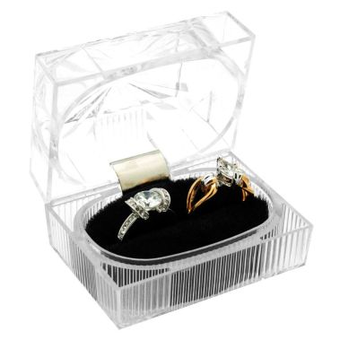 Crystal Style Ring Box for 2 Rings