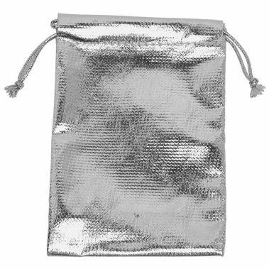 Metallic Silver Pouches (Med.)