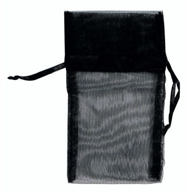 Black Organza Pouches (Med.)