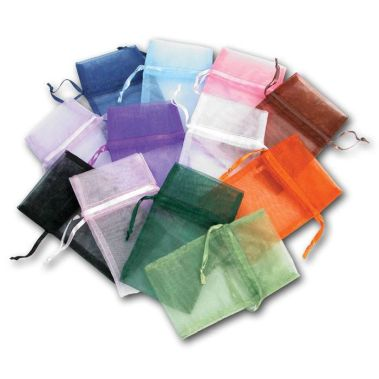 Assorted Color Organza Pouches (Med.)
