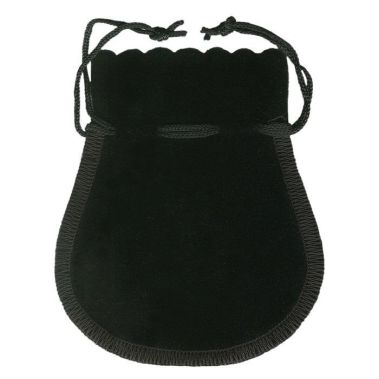Black Velour Jewelry Pouch (Lg.)