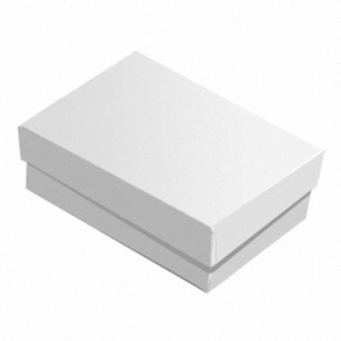 Glossy White Cotton Filled Box #32