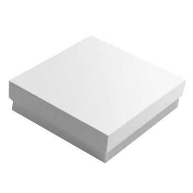Glossy White Cotton Filled Gift Box #33