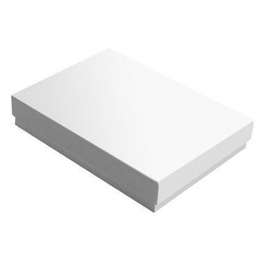 Glossy White Cotton Filled Box #53