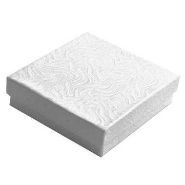 Swirl White Cotton Filled Gift Box #33