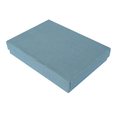 Matte Blue Textured Cotton Filled Box #75
