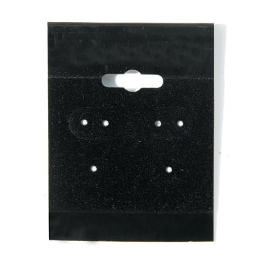"Earring Cards 1-1/2"" x 2"" Black"