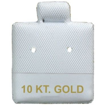 """10 KT. GOLD"" White Earring Puff Cards 1"" x 1"""