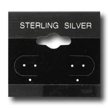 """STERLING SILVER"" Earring Cards 1-1/2""sq."