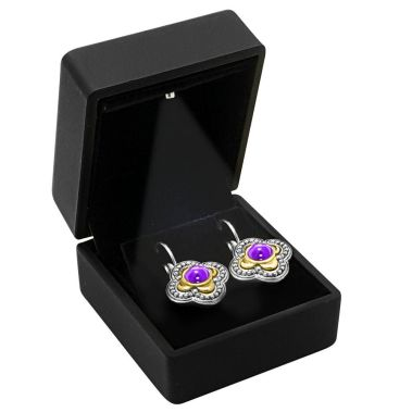 Black Soft Touch Lighted Earring Box