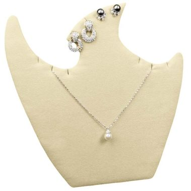 Beige Necklace and Earring Easel