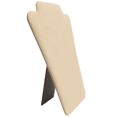 Beige Padded Necklace  Easel