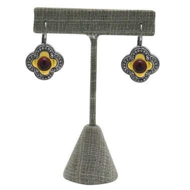 Grey Linen Earring Stand (Sm.)