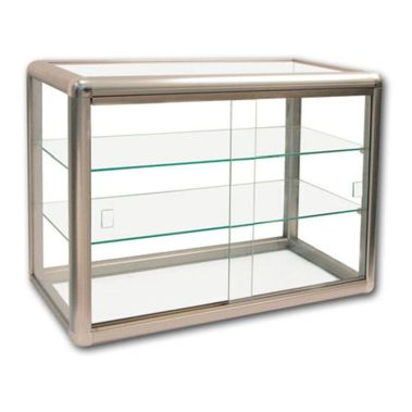 Glass Display Case Bronze