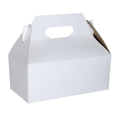 White Outside, Kraft Inside Carry Out Gable Box 8-7/8 X 5 X 3-1/2